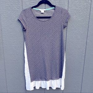 Clu & Willoughby Anthropologie Pattern Ruffle Top